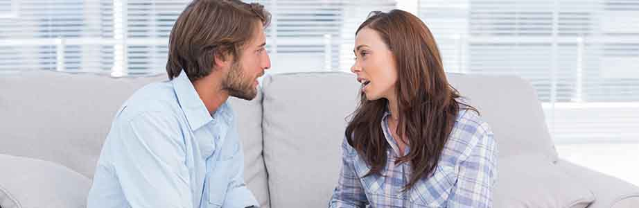 Couples sit down to talk about fixing a relationship.